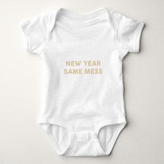 New Year Same Mess Baby Bodysuit