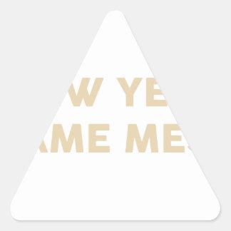 New Year Same Mess Triangle Sticker