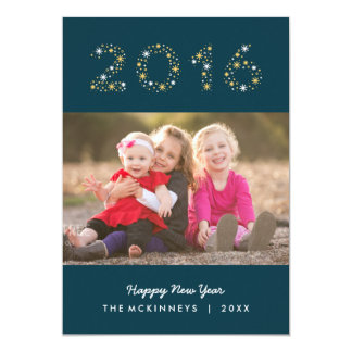 New Year Sparkle Happy New Year Holiday Photo Card