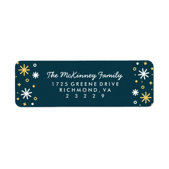New Year Sparkle Holiday Return Address Labels