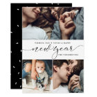 New Year Three Photo Collage New Year Card