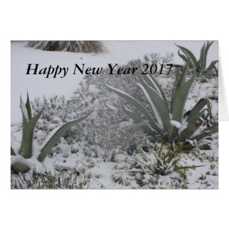 New Year wishes with a Agave under the Snow Card