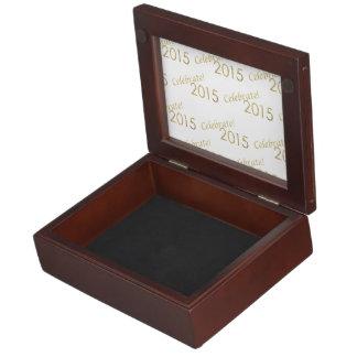 New Year's 2015 Gold Glitter on White Memory Box