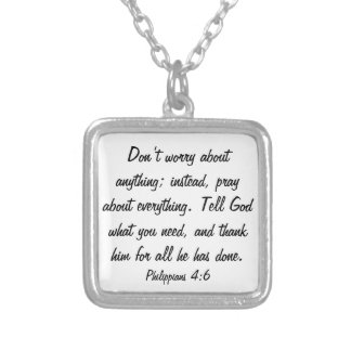 New Years bible verse encouragement necklace