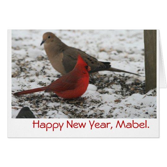 New Year's Birds Card