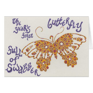 New year's butterfly haiku card
