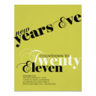 NEW YEARS COUNTDOWN PARTY INVITATION