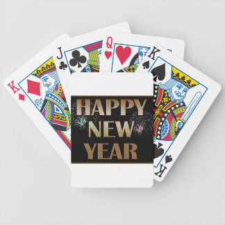 New-Years-Day Bicycle Playing Cards