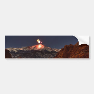 New Years' Day Fireworks on the top of Pikes Peak Bumper Sticker