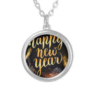 New-Years-Day Silver Plated Necklace