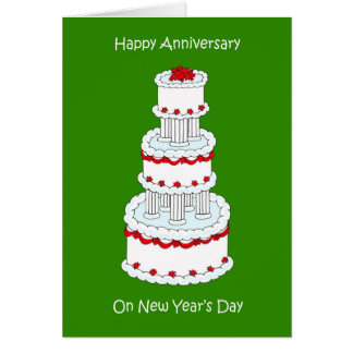 New Years Day Wedding Anniversary January 1st Card