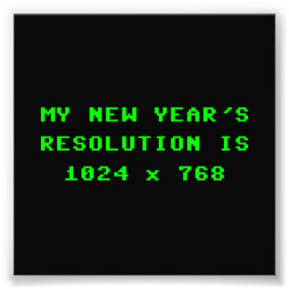 New Year's Display Resolution 1024x768 Photo Print