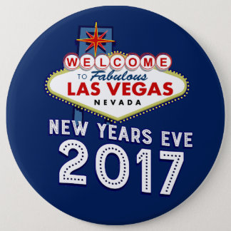 New Year's Eve 2017 Las Vegas 6 Cm Round Badge