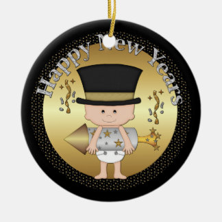 New Years Eve baby ornament add date