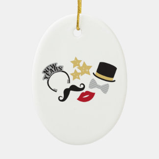 New Years Eve Ceramic Ornament