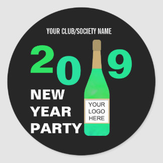 New Years Eve Club/Corporate Bash add Logo Classic Round Sticker