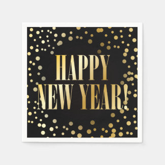 New Years Eve golden confetti - paper Napkin