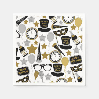 New Years Eve mixed party pattern napkins Paper Napkin