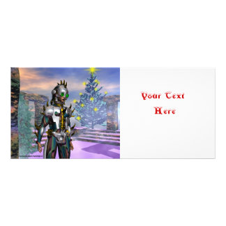 NEW YEAR'S EVE OF A CYBORG RACK CARD TEMPLATE