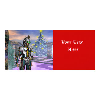 NEW YEAR'S EVE OF A CYBORG CUSTOMIZED RACK CARD