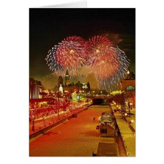 New Year's Eve, Ottawa, Ontario, Canada Greeting Card
