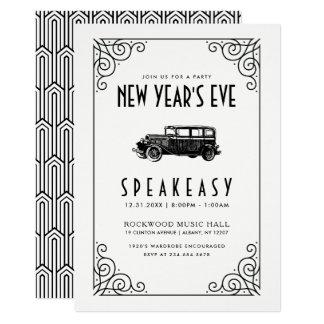 NEW YEAR'S EVE PARTY INVITATION | 1920's Speakeasy
