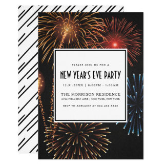 NEW YEAR'S EVE PARTY INVITATION | Modern Fireworks