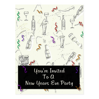 New Years Eve Party Postcard