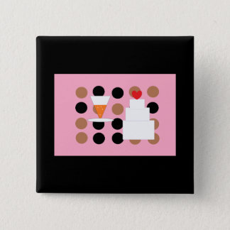 New Years Eve Wedding 15 Cm Square Badge
