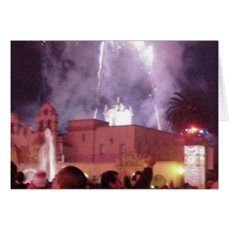 New Years Fireworks Greeting Card