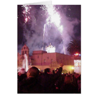 New Years Fireworks Greeting Cards
