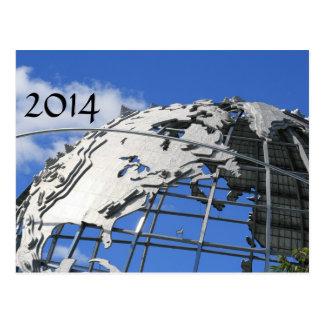 New Year's greeting card yunisuhuia Unisphere Post Cards