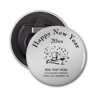 New Years Happy New Year Advertising Memento Bottle Opener