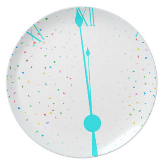 New Years Party Clock Plate