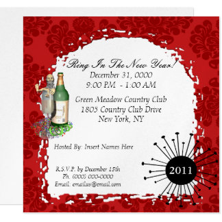 new years party invitations & announcements | zazzle.au, Party invitations