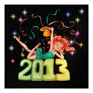 New Year's Party - SRF 13 Cm X 13 Cm Square Invitation Card
