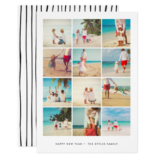NEW YEAR'S PHOTO CARD | Modern Minimalist Grid