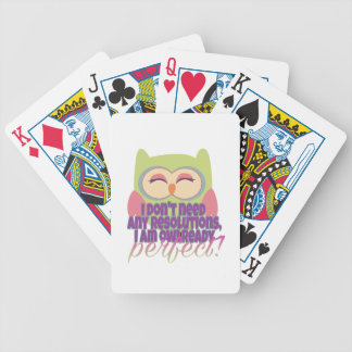New years resolution bicycle playing cards