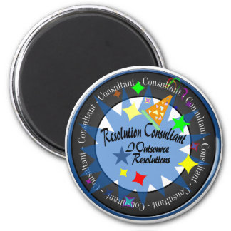 New Year's Resolution Consultant 6 Cm Round Magnet