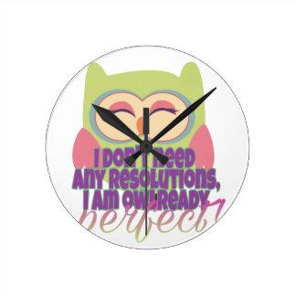 New years resolution round clock