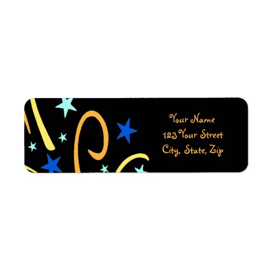 New Year's Return Address Labels