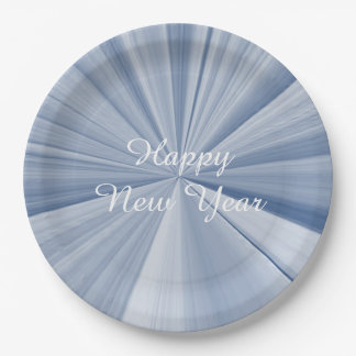 New Years Sky Blue Paper Plates by Janz 9 inch 9 Inch Paper Plate