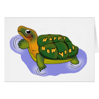 New Years Turtle Card
