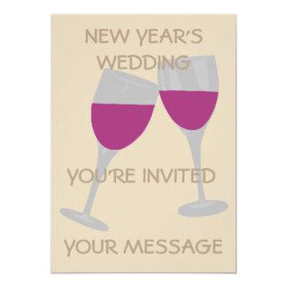 NEW YEAR'S WEDDING CELEBRATION WEDDING INVITATION