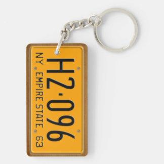 New York 1963 Vintage License Plate Keychain