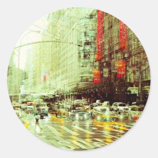 New York 2 Classic Round Sticker