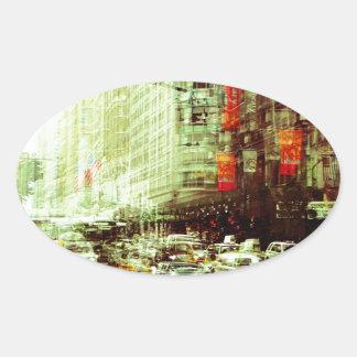 New York 2 Oval Sticker