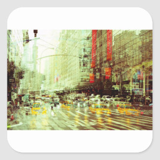 New York 2 Square Sticker