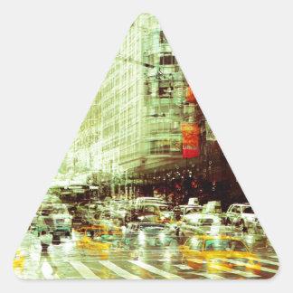 New York 2 Triangle Sticker