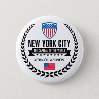 New York 6 Cm Round Badge